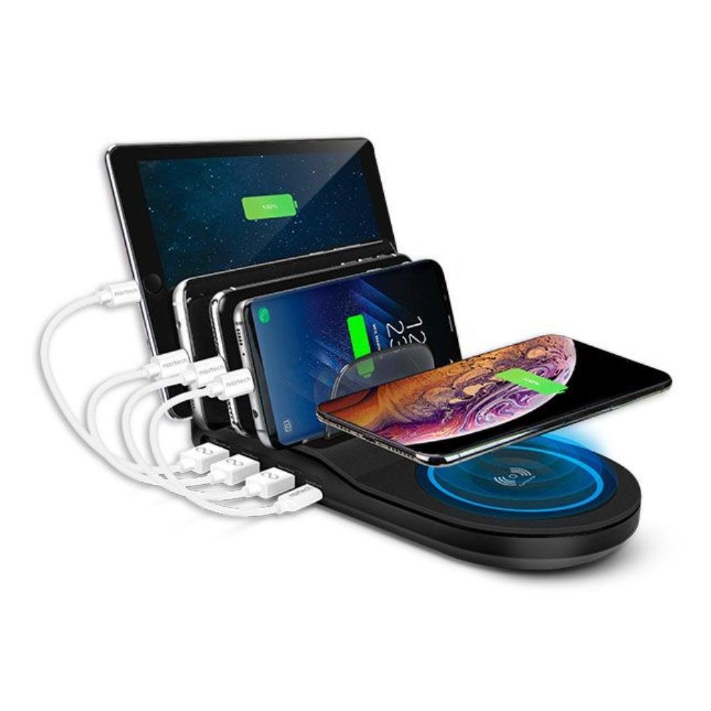 Naztech Wireless Power Hub 5: Qi-capable + 4 USB ports