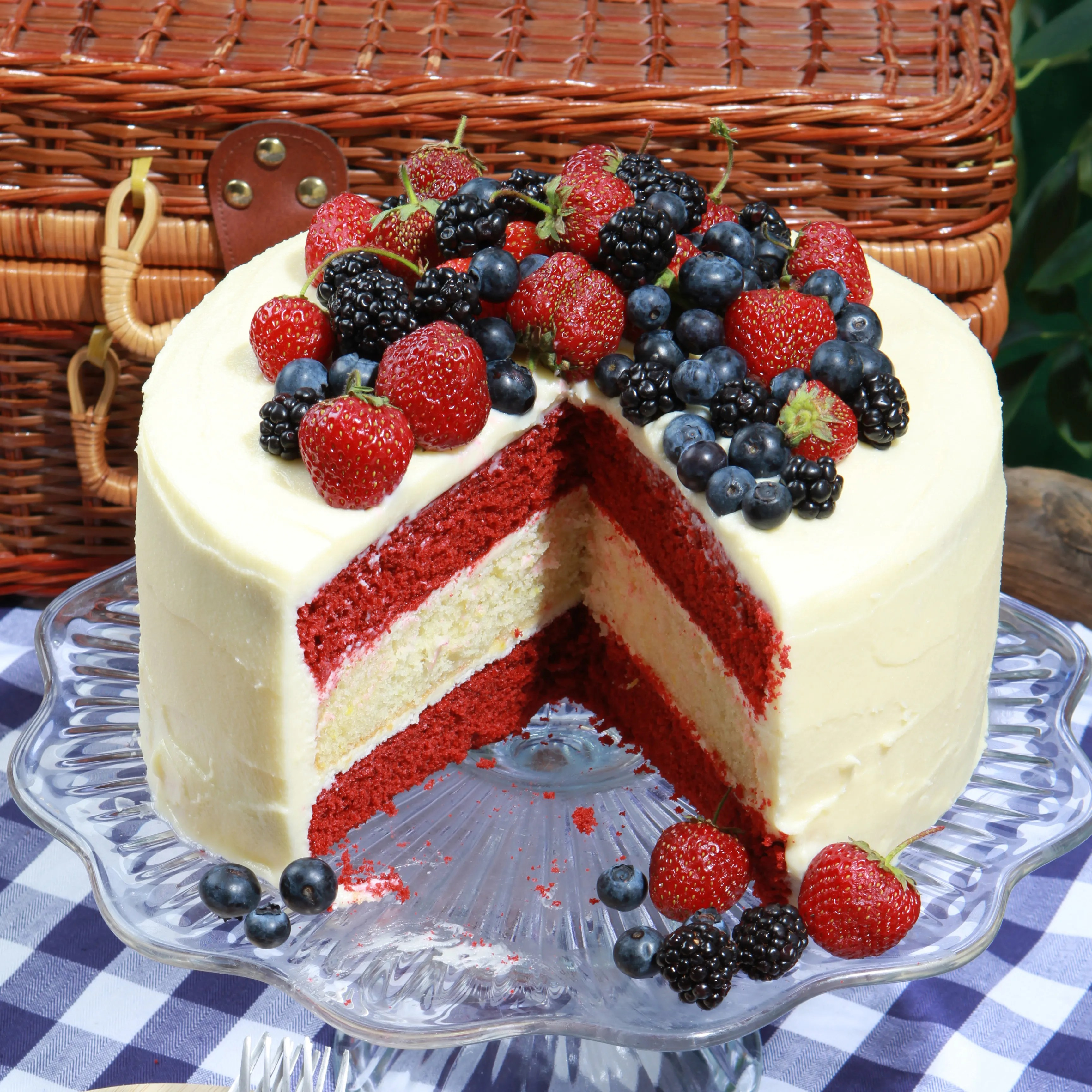 Glorious Red White And Blue Cake Recipe