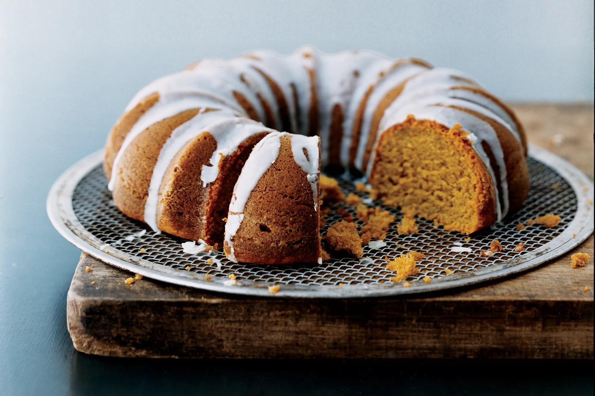 Pumpkin Spice Bundt Cake With Buttermilk Icing Recipe