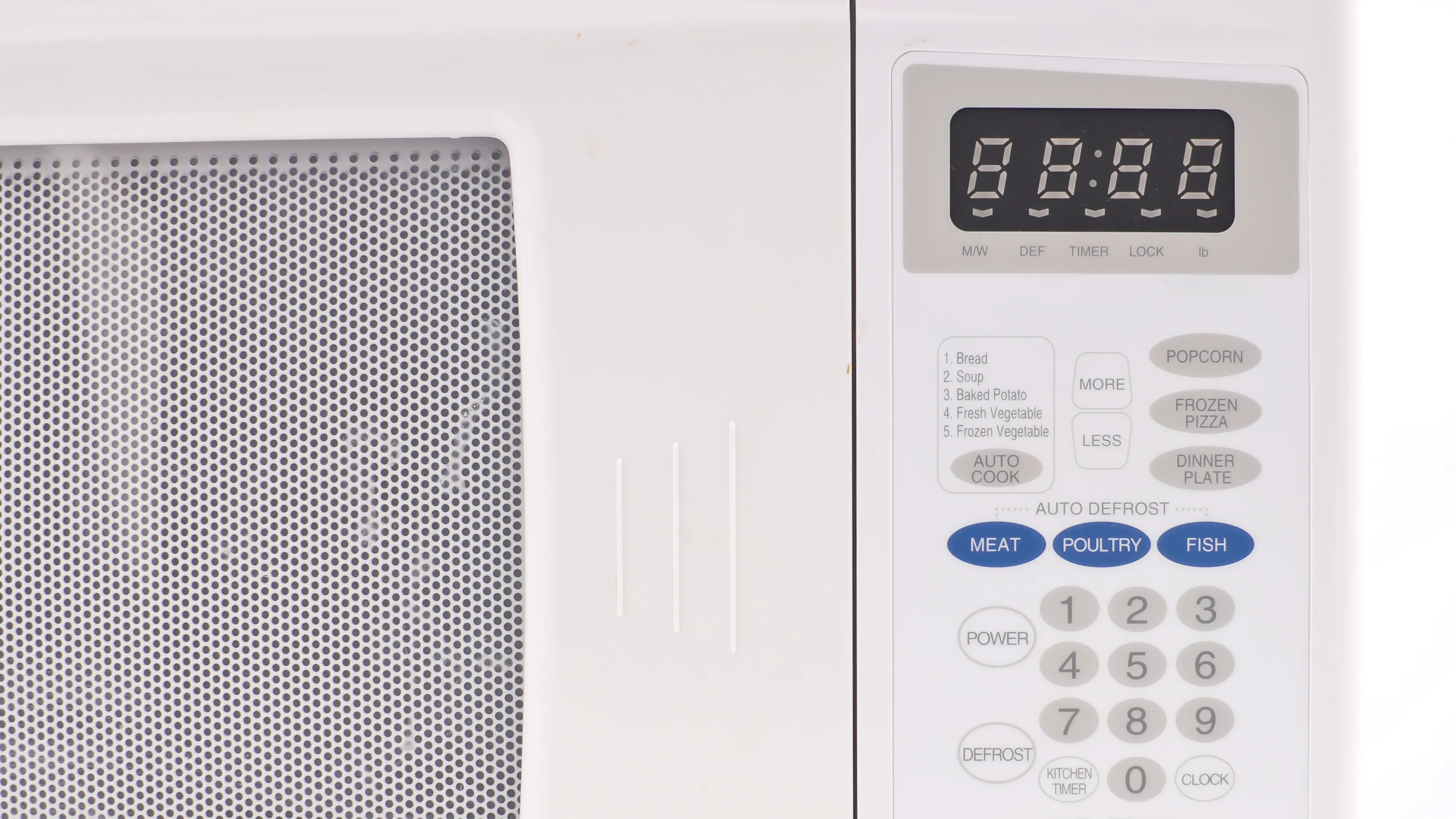 the wattage power of your microwave