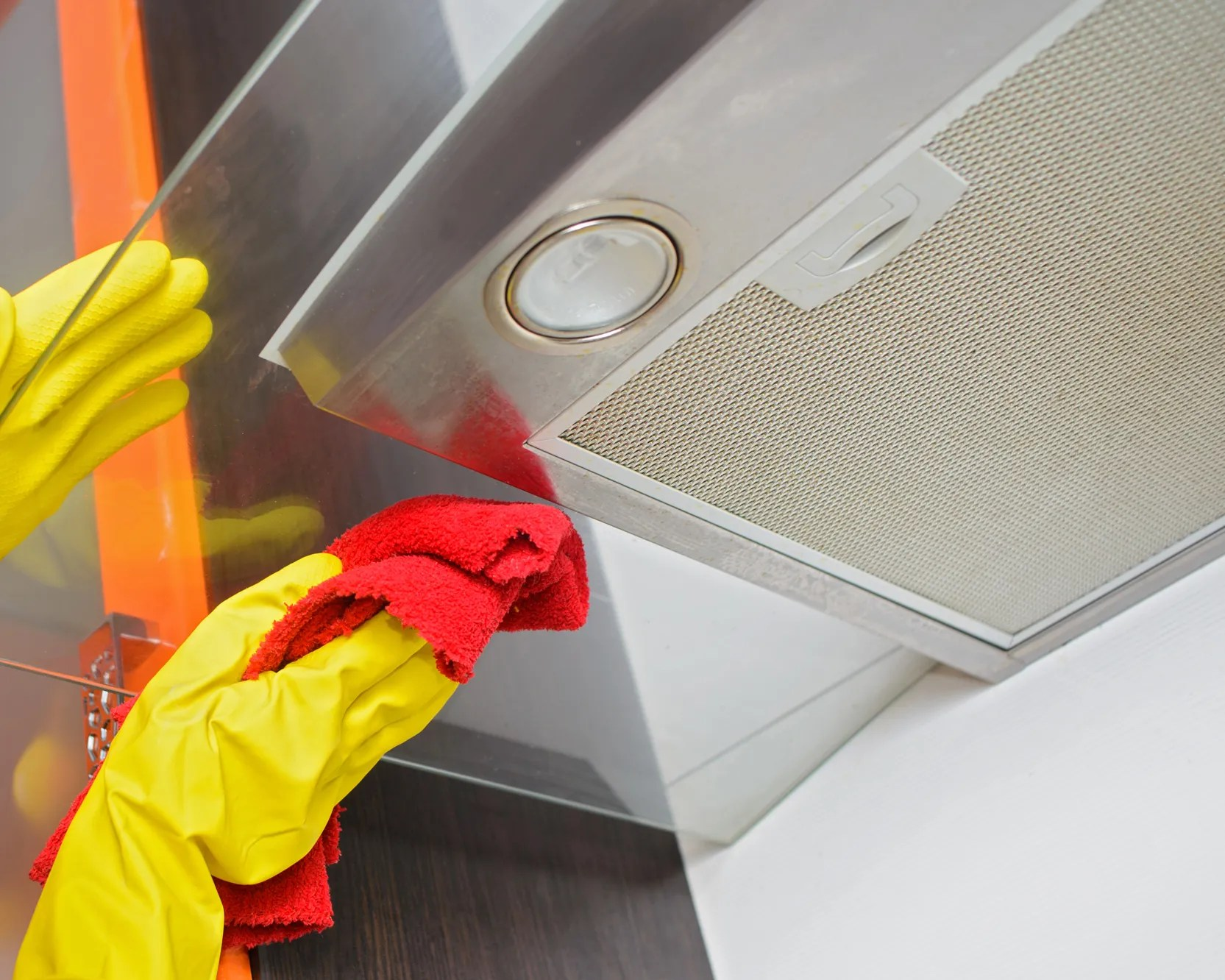how to clean the range hood over your