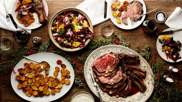 Image result for christmas dinner prime rib free image