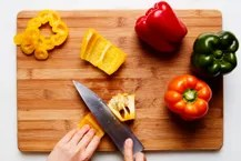How To Cut a Pepper 3 / Photo by Chelsea Kyle, Food Styling by Ali Nardi
