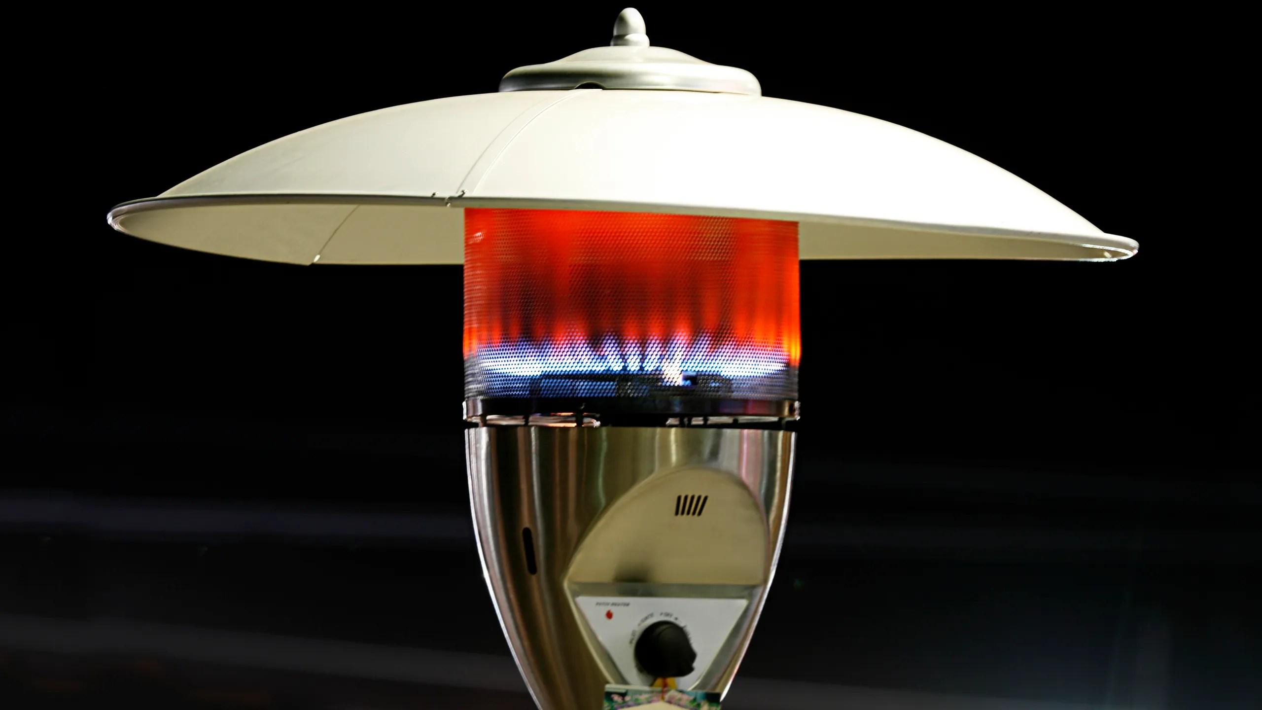 an outdoor heater