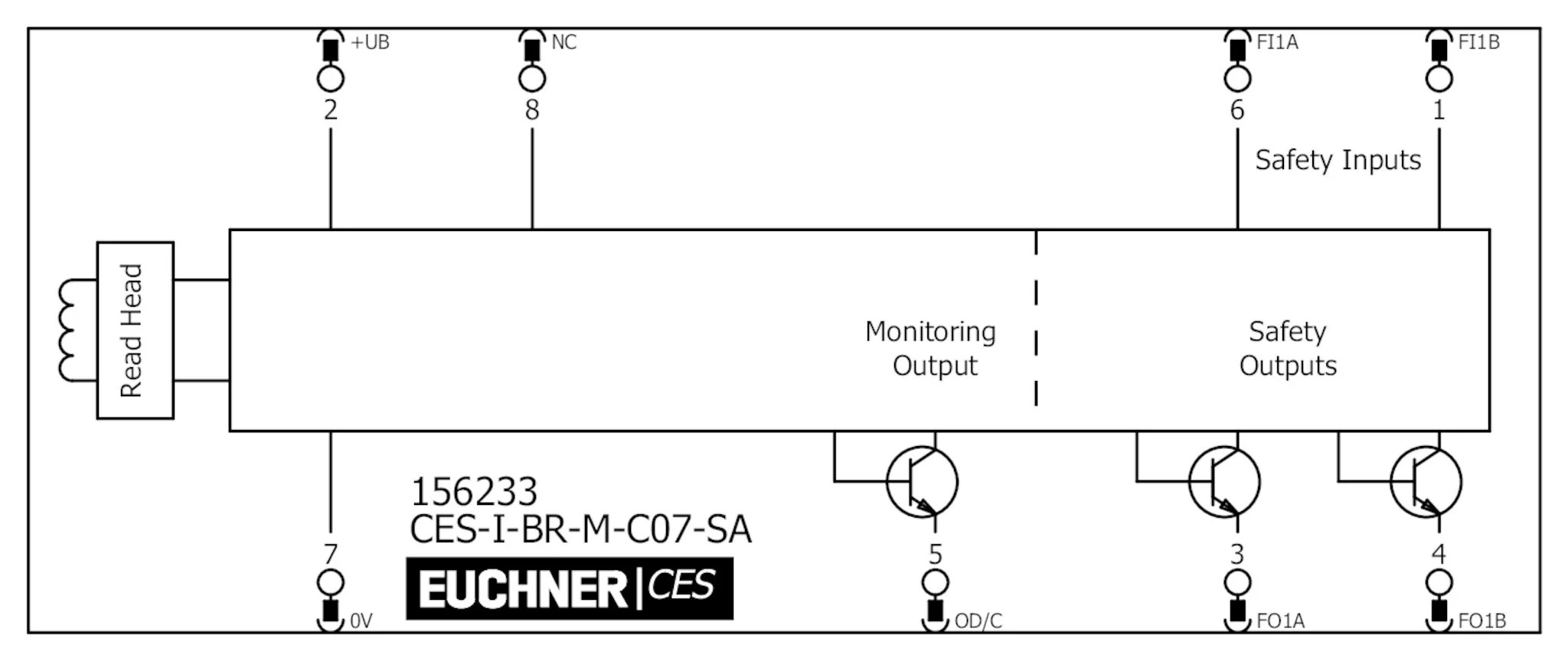 Ces I Br M C07 Sa Non Contact Safety Switches Ces I