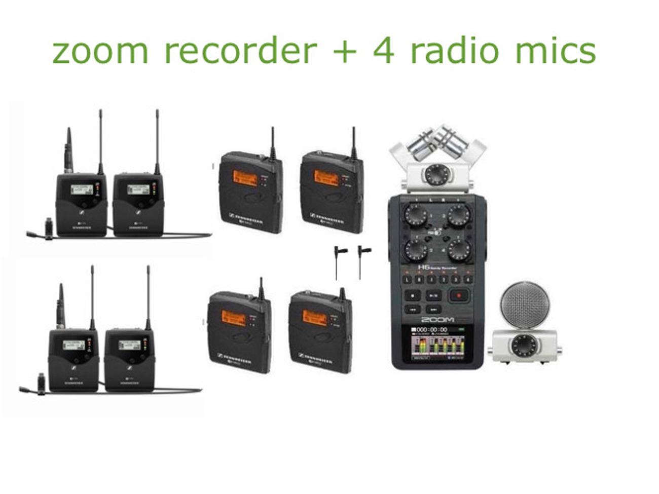 Rent Audio Zoom H6 Recorder 4 Radio Mics Lavs Sound