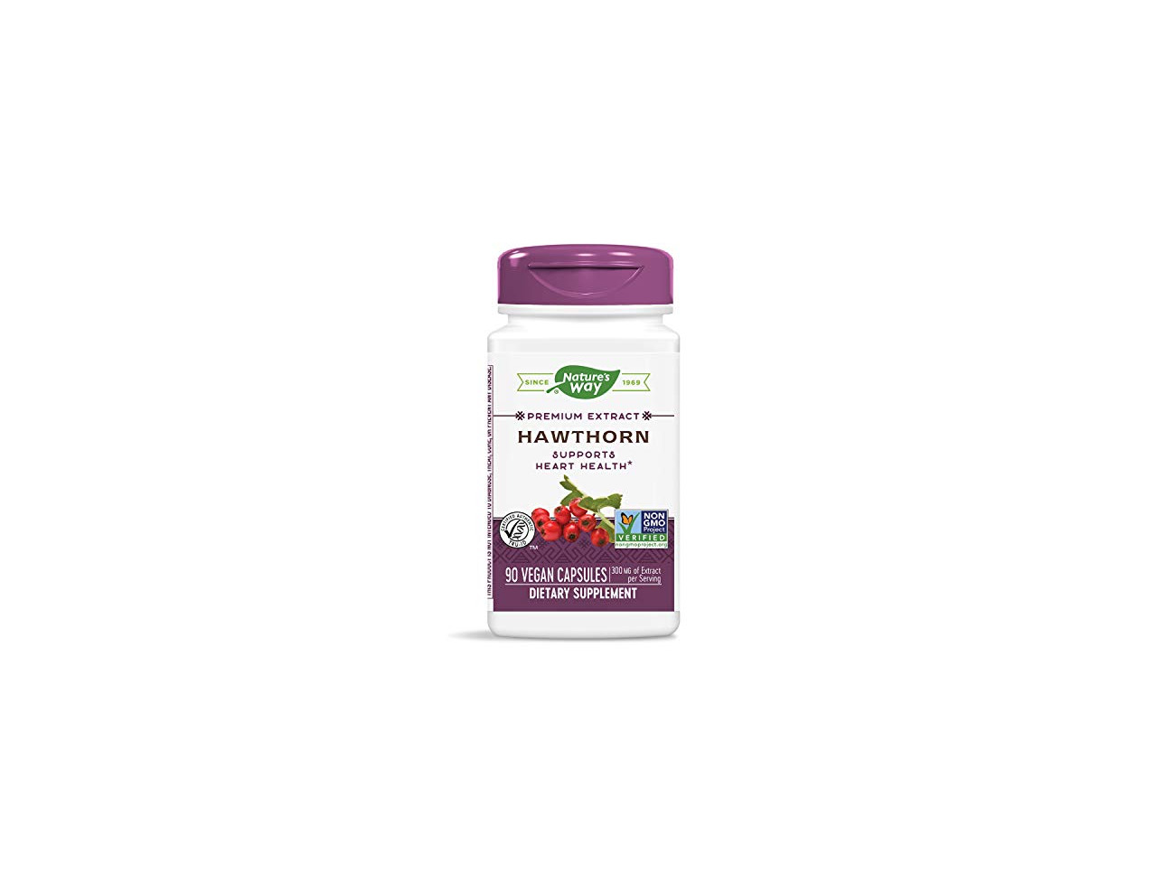 Buy Nature S Way Hawthorn Standardized Heart Function 1 8