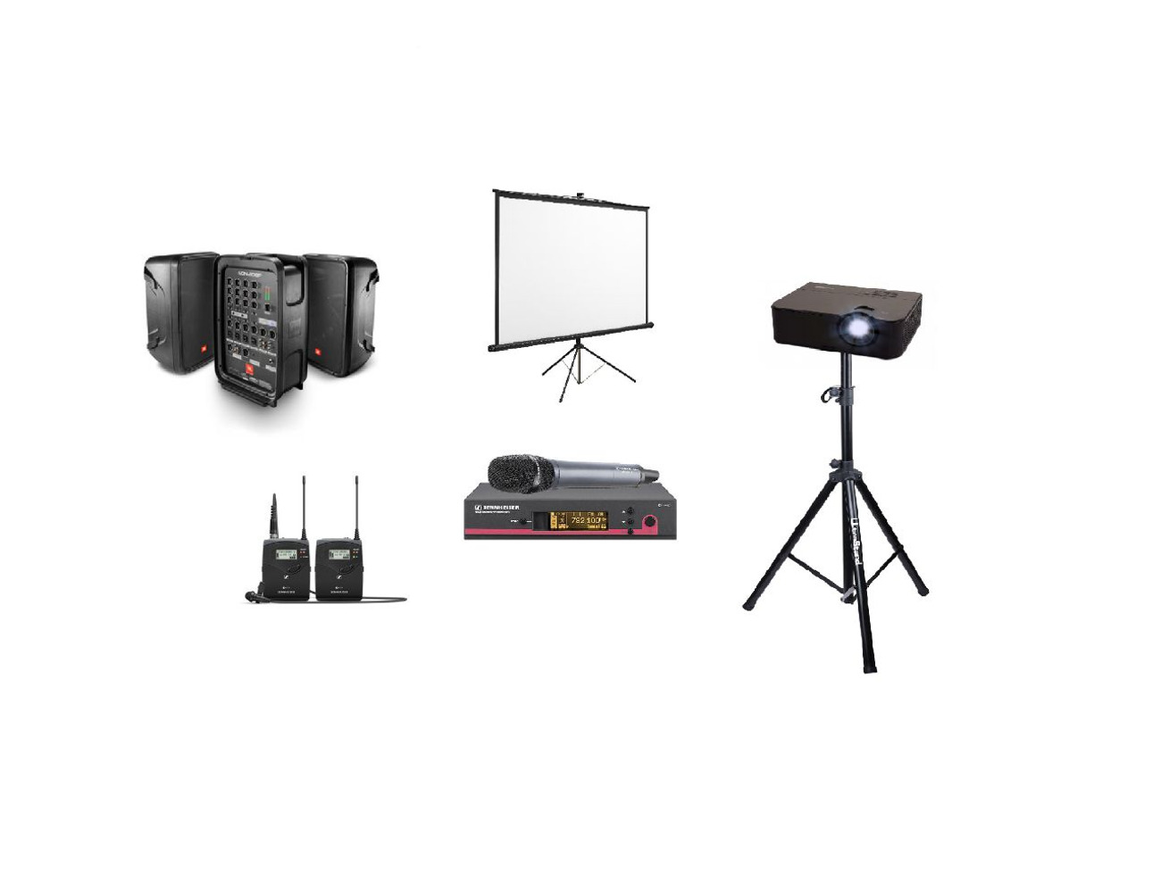 Rent Projector Package For Event With Microphones Wireless