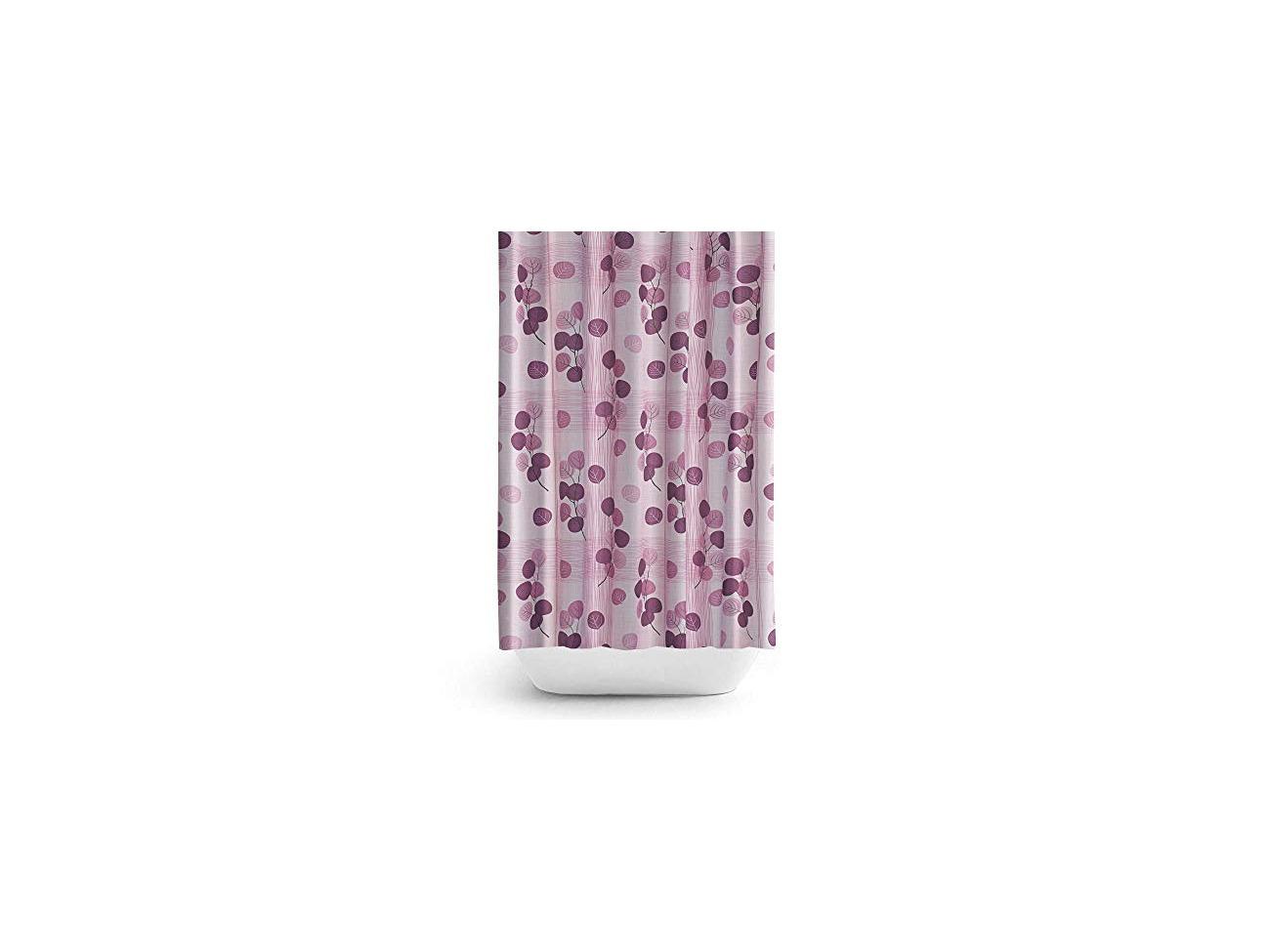 Buy Tropik Home Fabric Shower Curtain With Purple Flowers