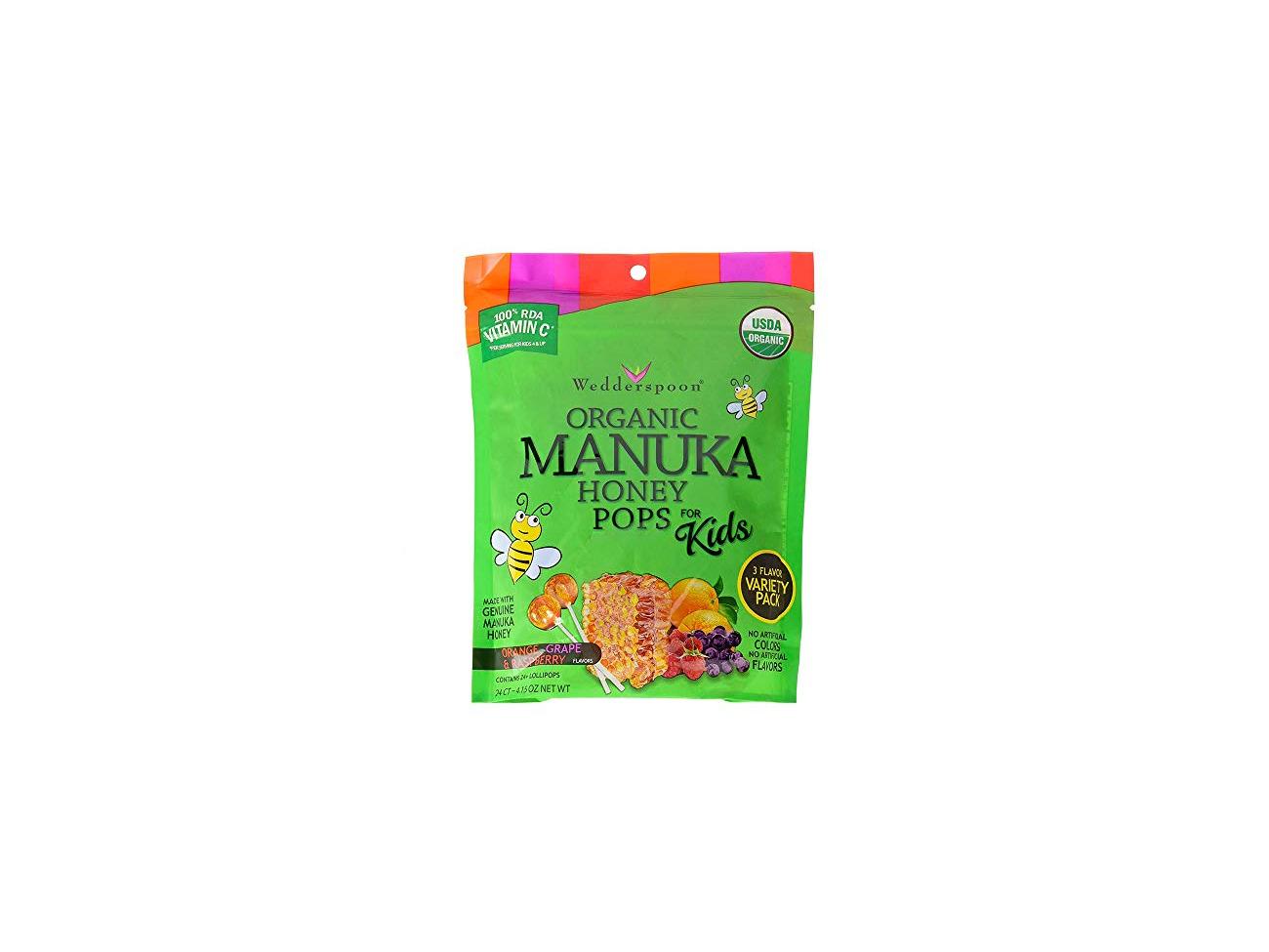 Buy Wedderspoon Organic Manuka Honey Pops For Kids