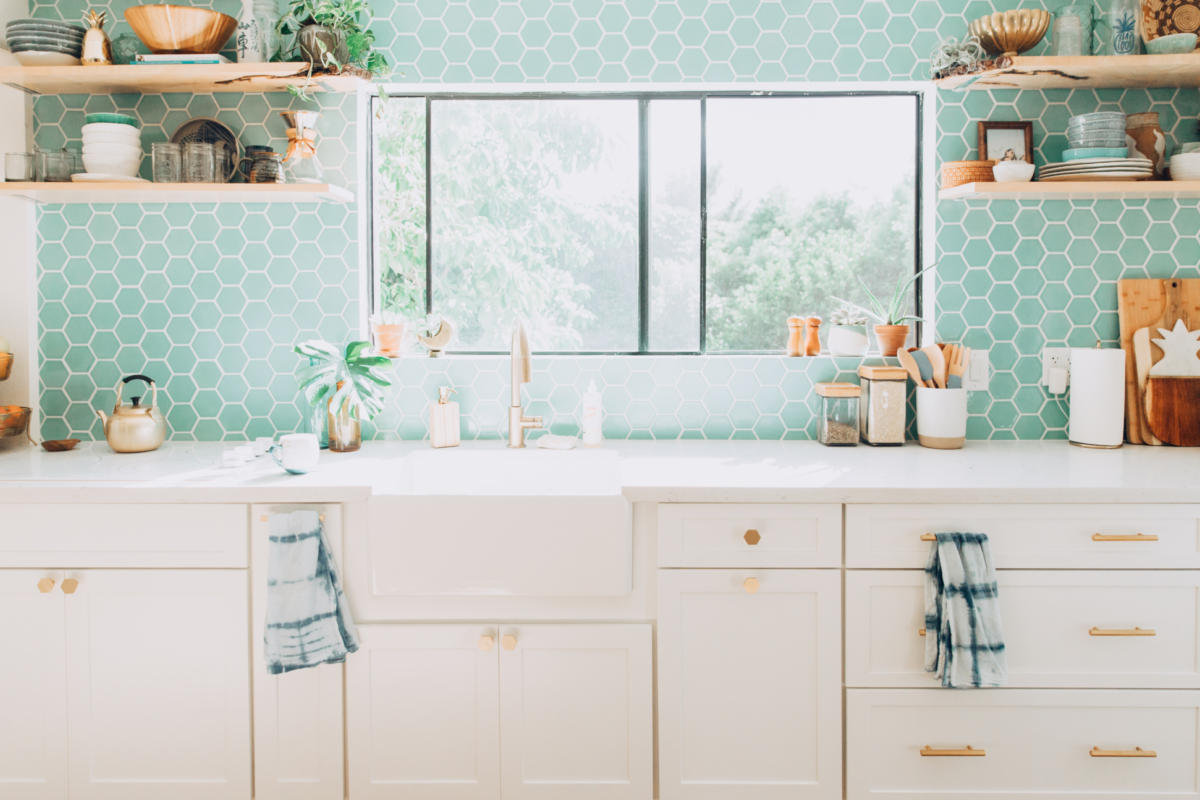 Design Trends Colorful Tile And White Kitchen Fireclay Tile