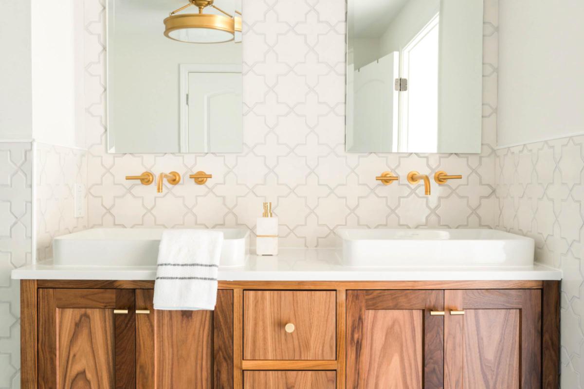 Project Spotlight Starry Bathroom Remodel Fireclay Tile