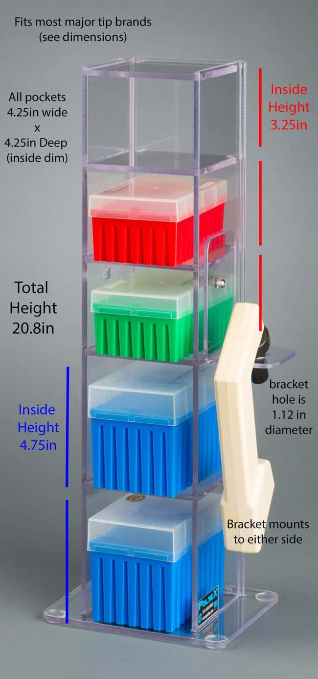 Poltex 5 Pocket Vertical Lab Bench Organizer With Pipette