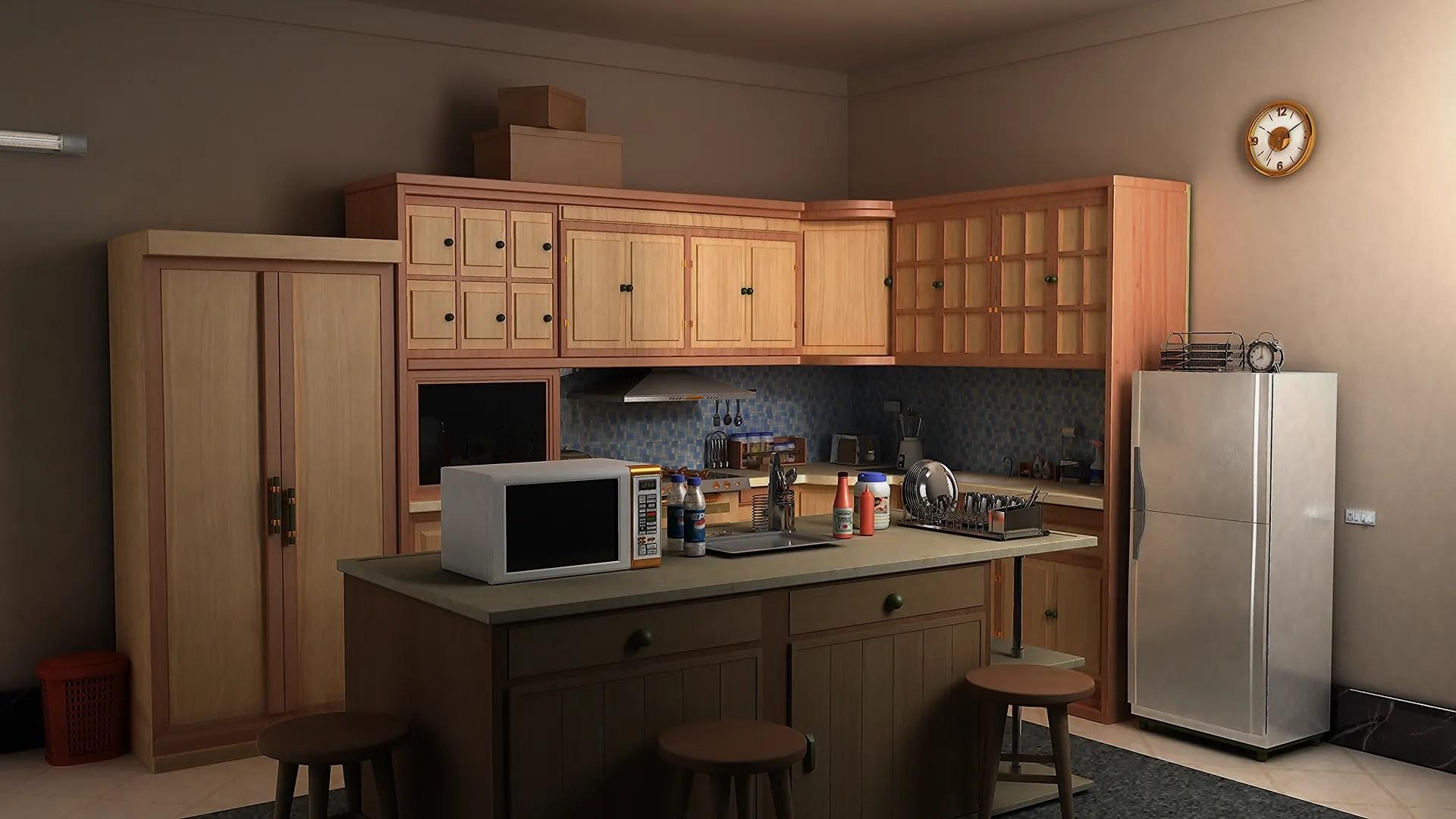 cozy kitchen 3D Model - FlatPyramid on Model Kitchen Images  id=14507