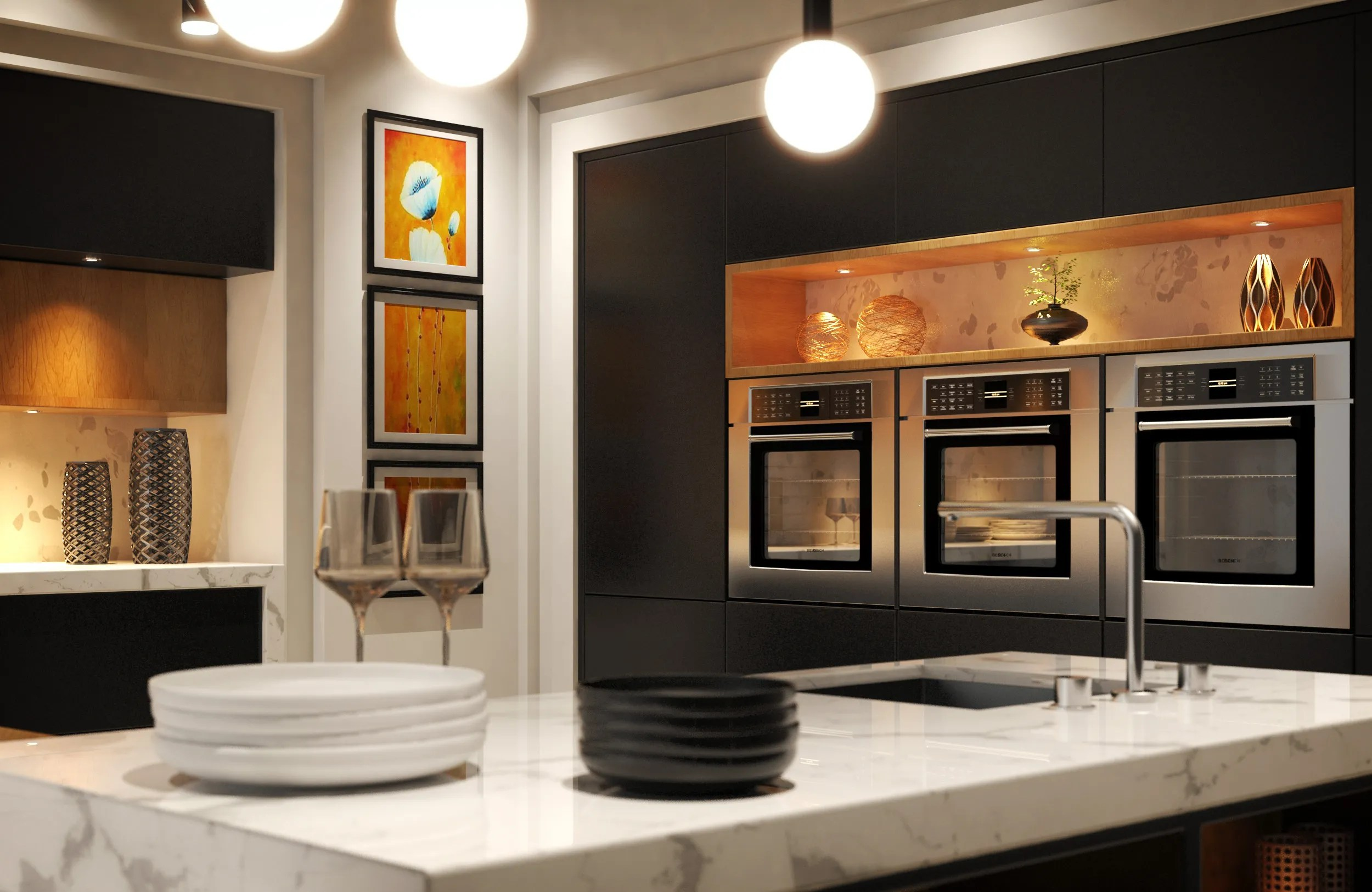 Modern Kitchen 3D Model - FlatPyramid on Modern:8-Rtxafges8= Model Kitchen  id=58407