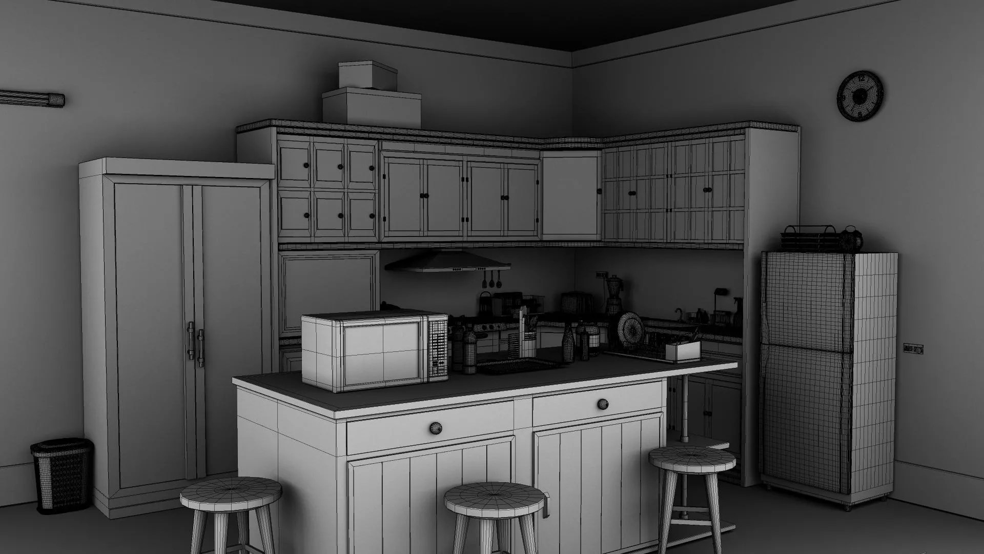 Kitchen 3D Model | FlatPyramid on Model Kitchen  id=25218