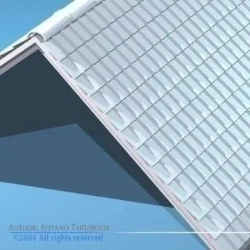 Roof tiles 3D Model - Buy Roof tiles 3D Model   FlatPyramid on Tile Models  id=30971