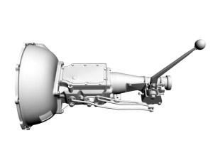 Ford 4Speed Toploader Transmission and Shifter 3D Model | FlatPyramid