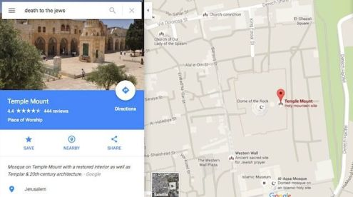 What Happens When You Type  Death to Jews  in Google Maps      The Forward Screenshot  Google Maps