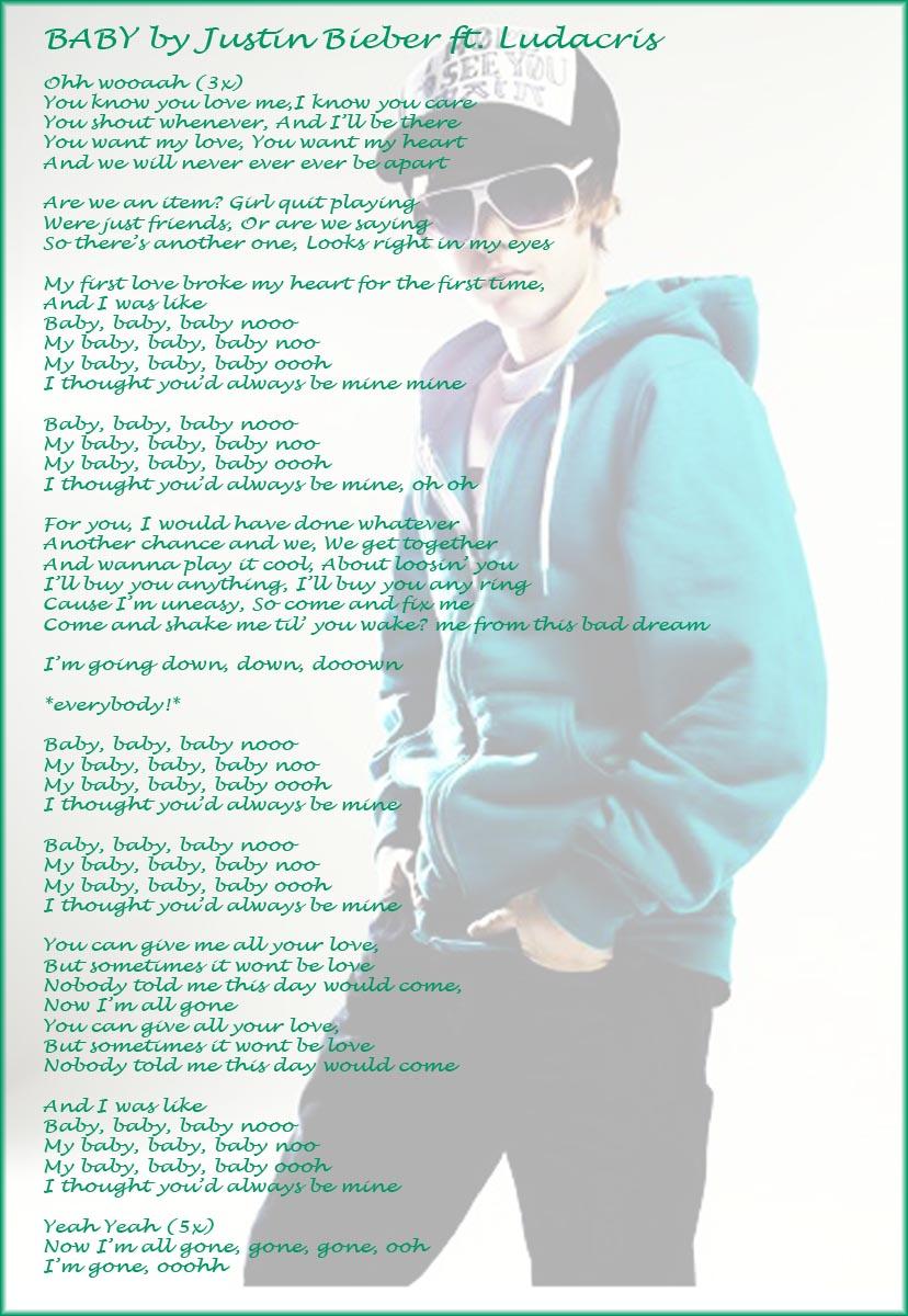 You Are My Baby Love Lyrics