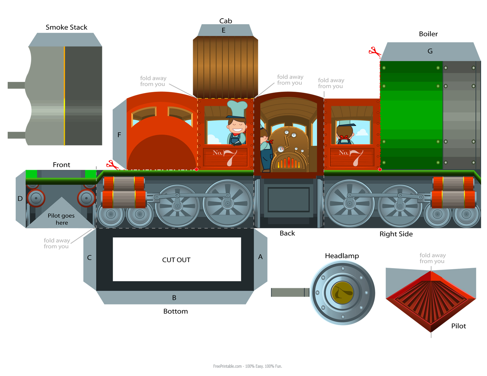 Paper Craft New 16 Papercraft Train