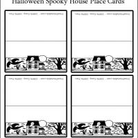 halloween place cards to print