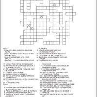 Homonyms Crossword