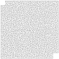 Simple Big Printable Maze
