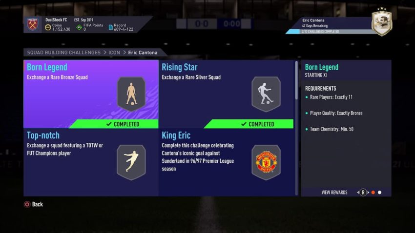 Cantona's price on the xbox market is 190,000 coins (2 days ago), playstation is 160,000 coins (1 days ago) and pc is 280,000 coins (2 days ago). Fifa 21 How To Complete Icon Eric Cantona Sbc Requirements And Solutions Gamepur