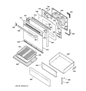 Assembly View for DOOR & DRAWER PARTS | JGBP26BEA1WH