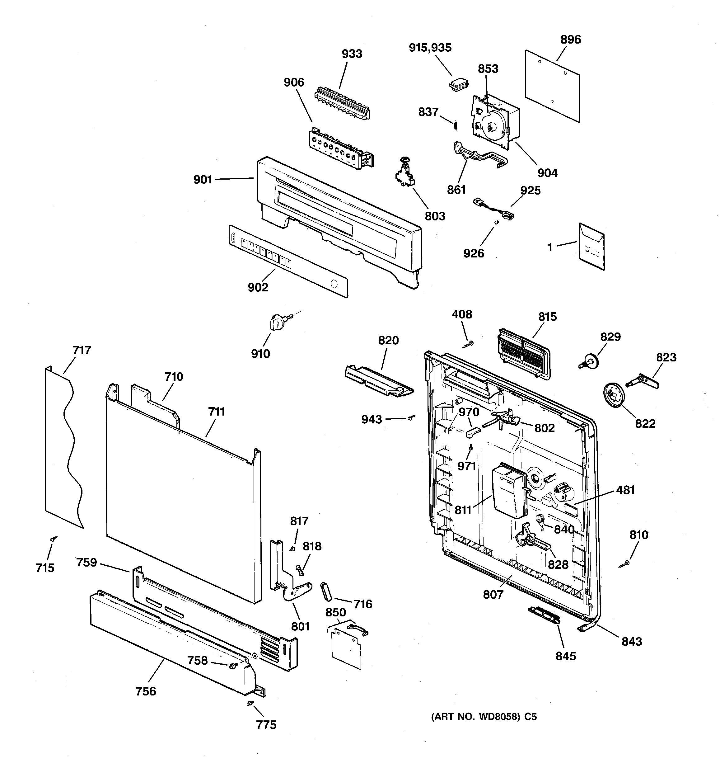 Ge Dishwasher Hose Diagram