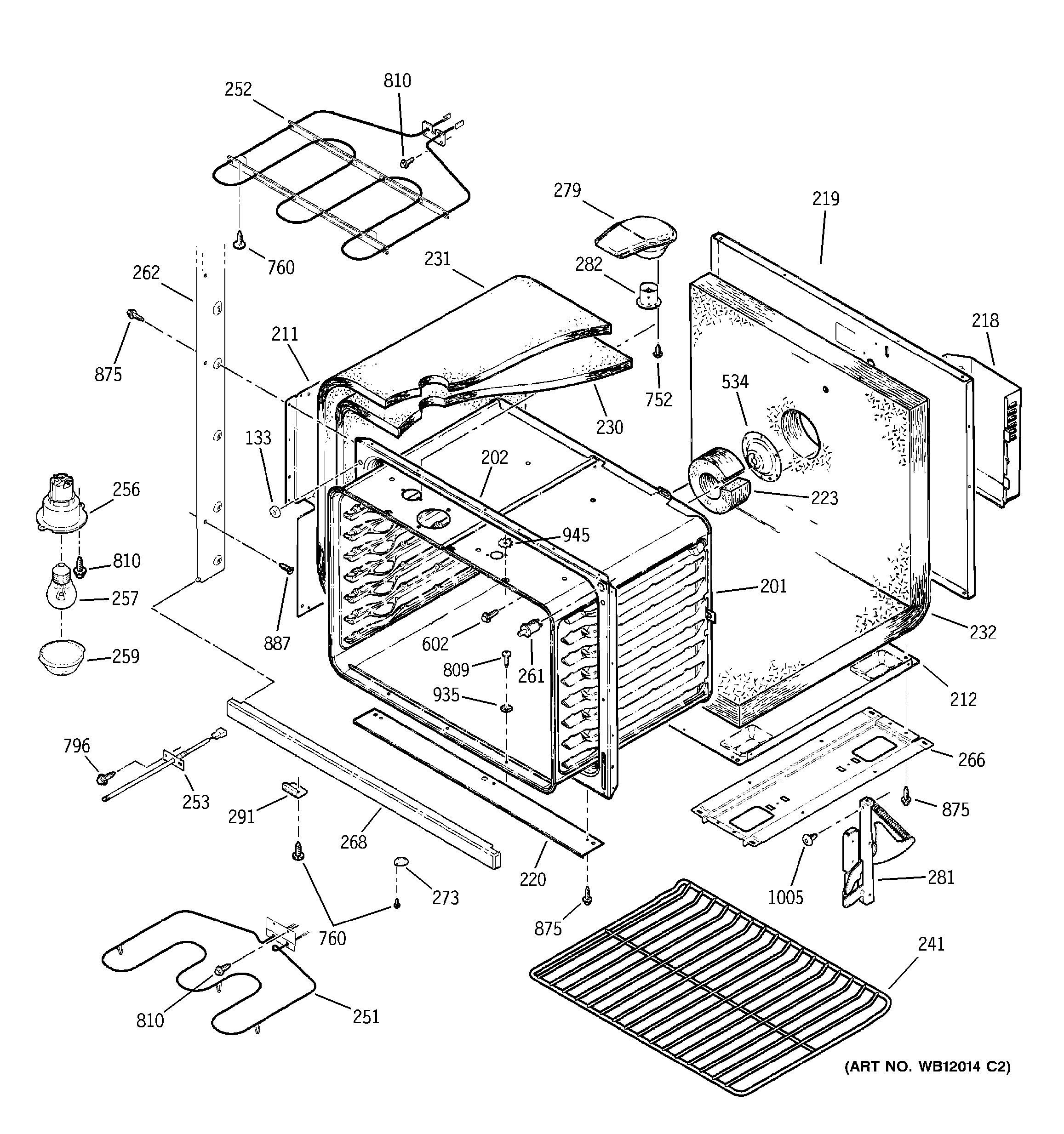 Assembly View For Lower Body Parts