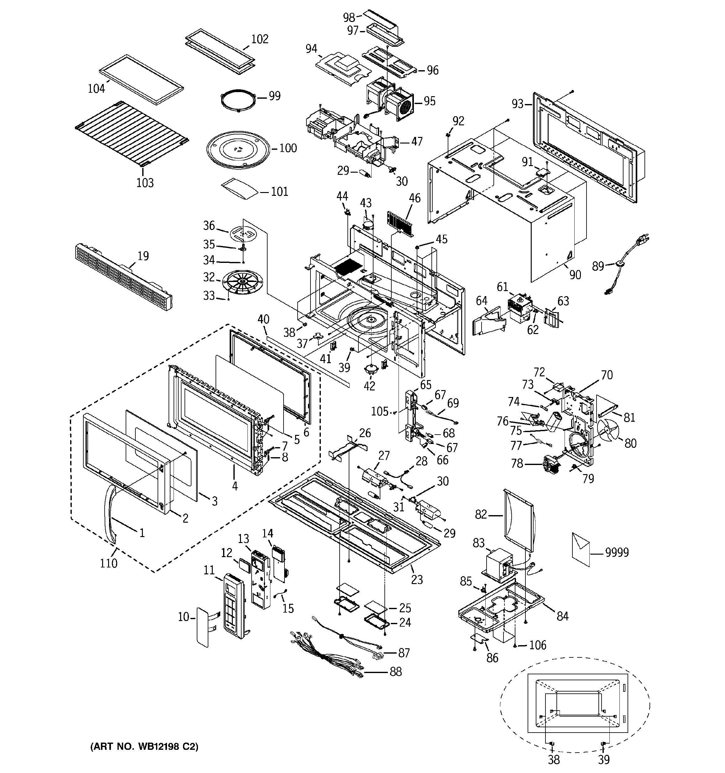 Assembly View For Microwave