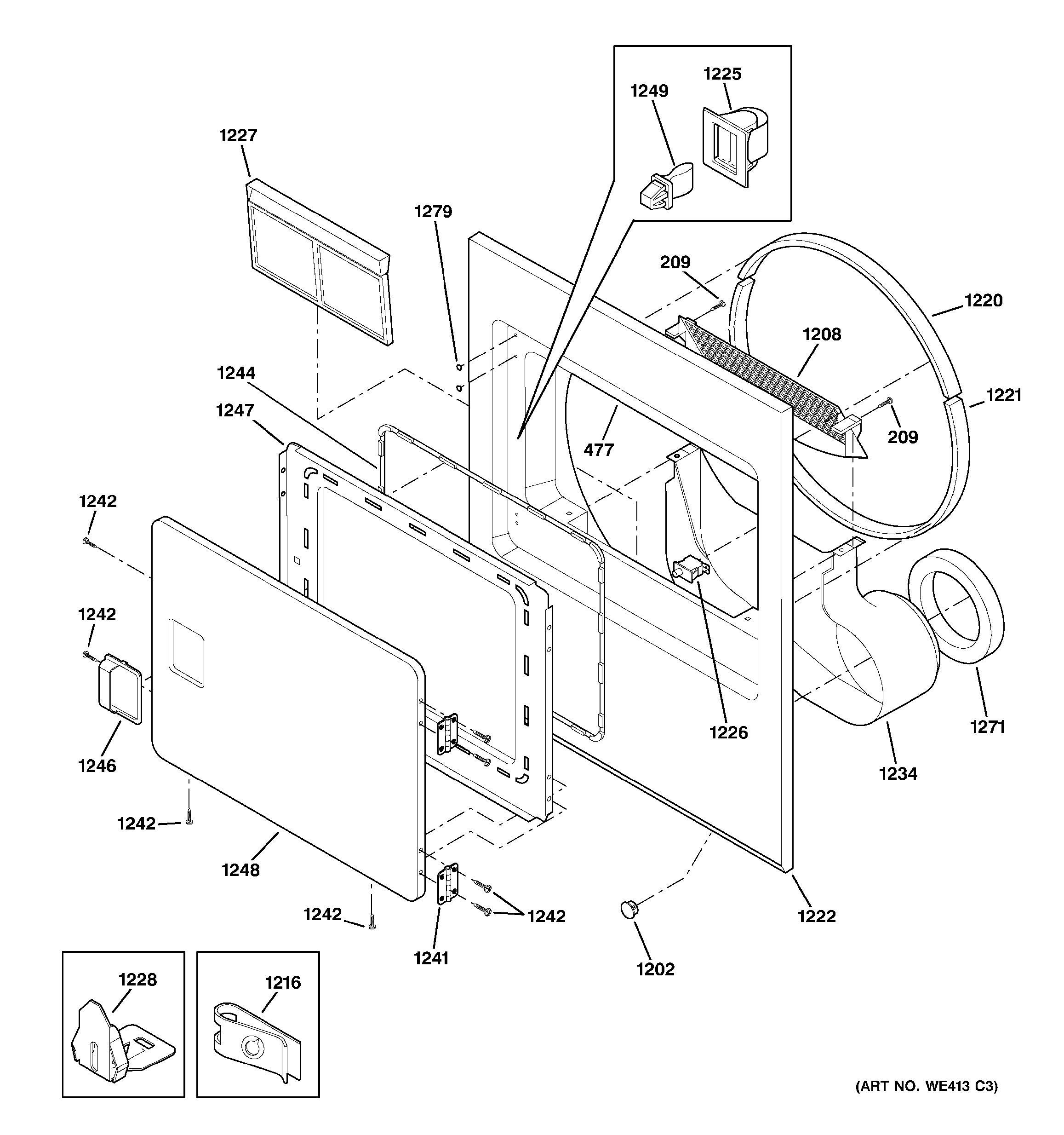 Ge Dryer Door Switch Wiring