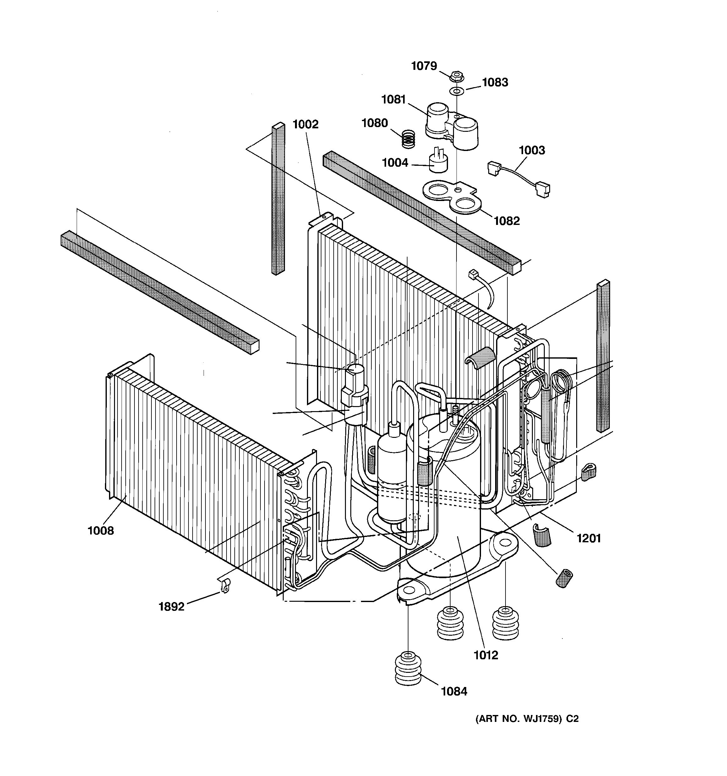 Assembly View For Sealed System Components