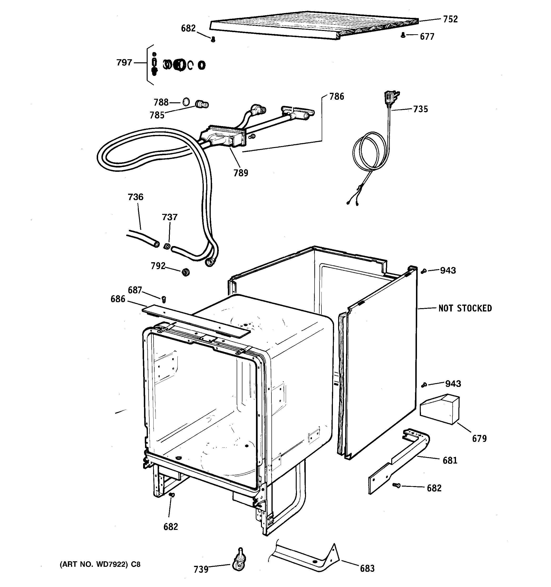 Assembly View For Cabinet Amp Exterior Parts