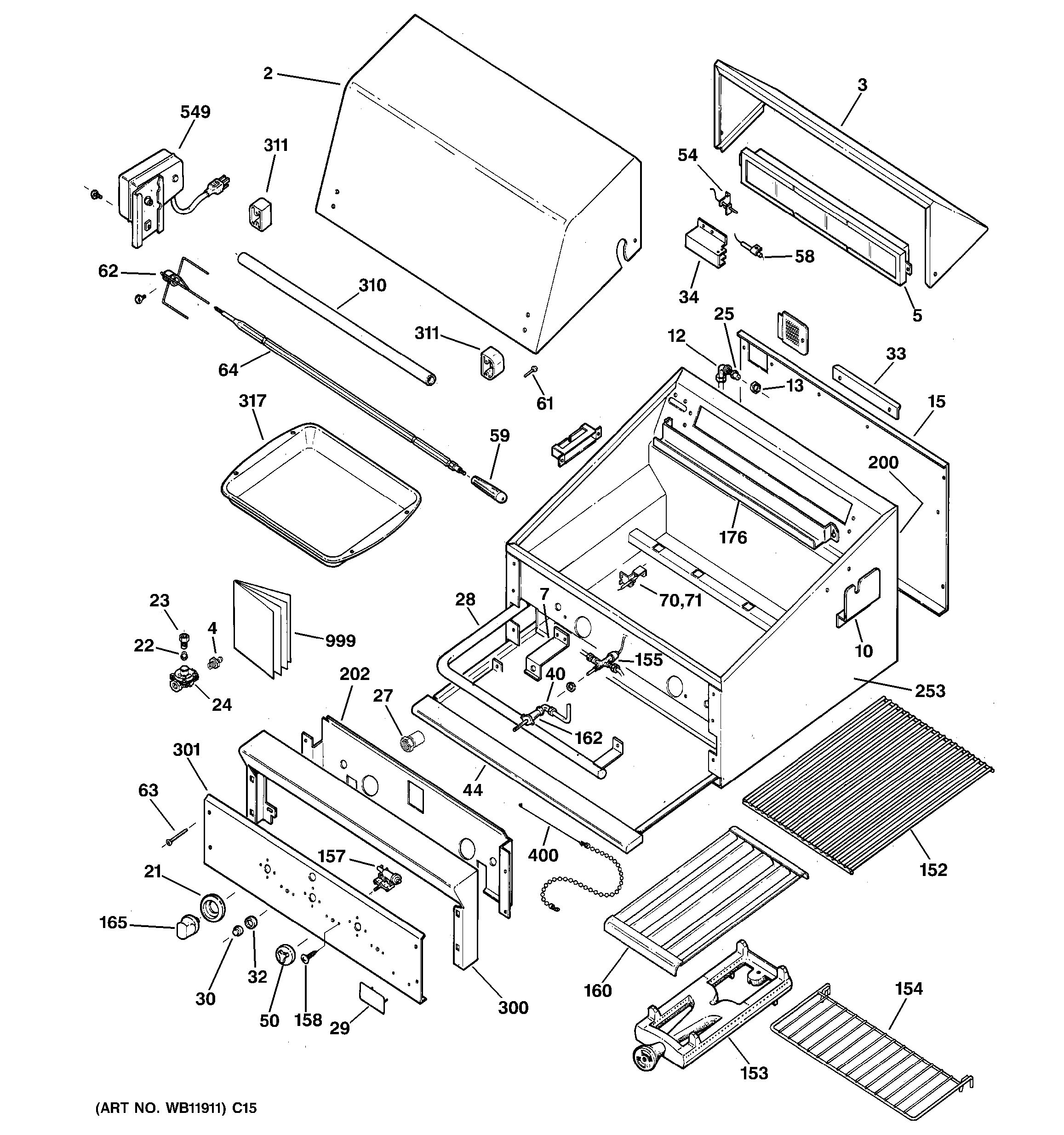 Assembly View For Range Parts