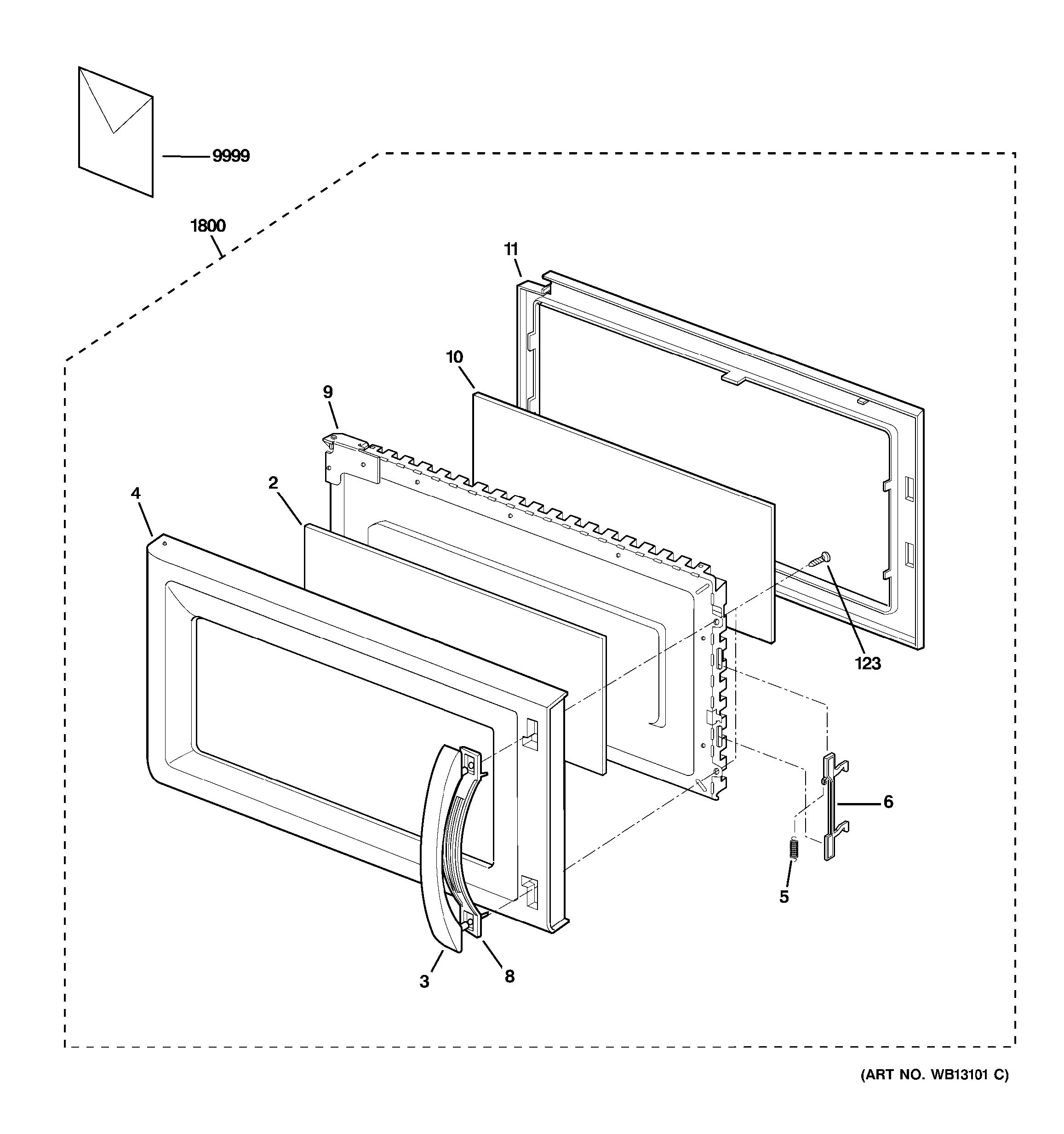 Assembly View For Door Parts