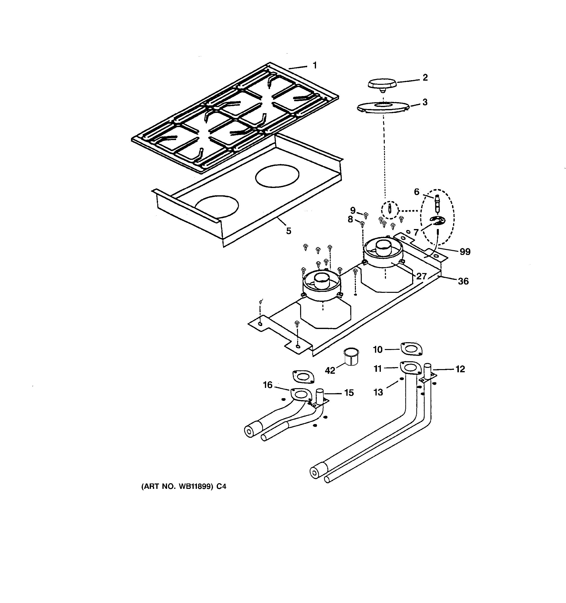 Assembly View For Burner Assembly