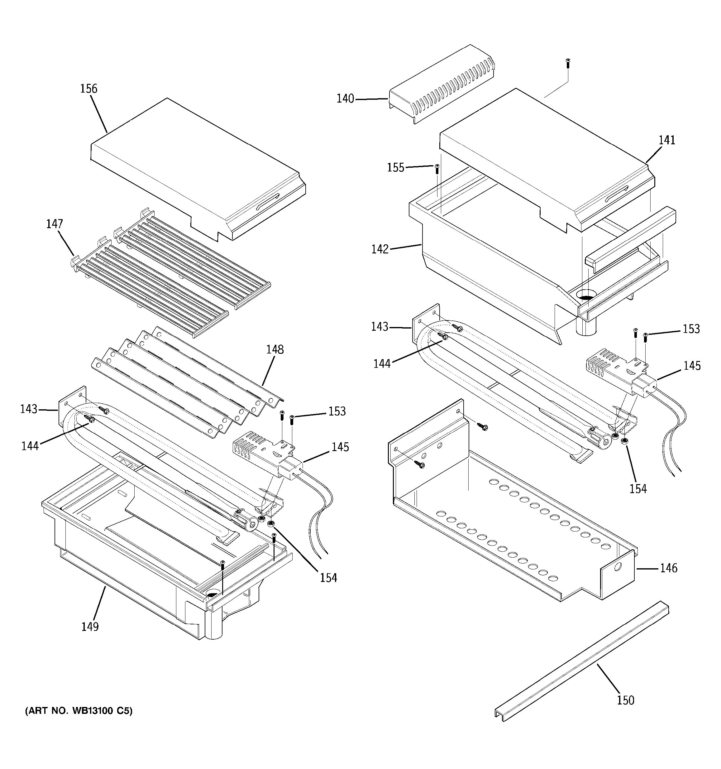 Assembly View For Grill Assembly