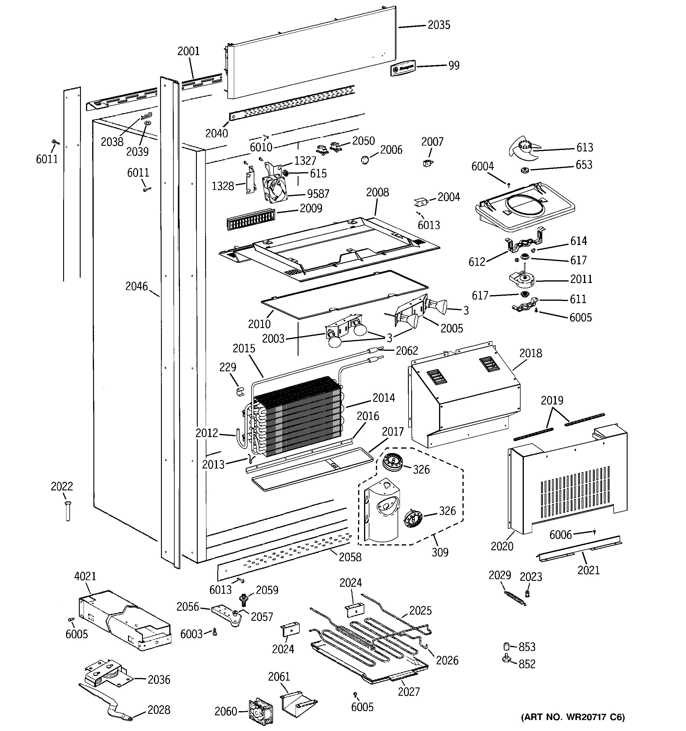 Assembly View For Cabinet Parts
