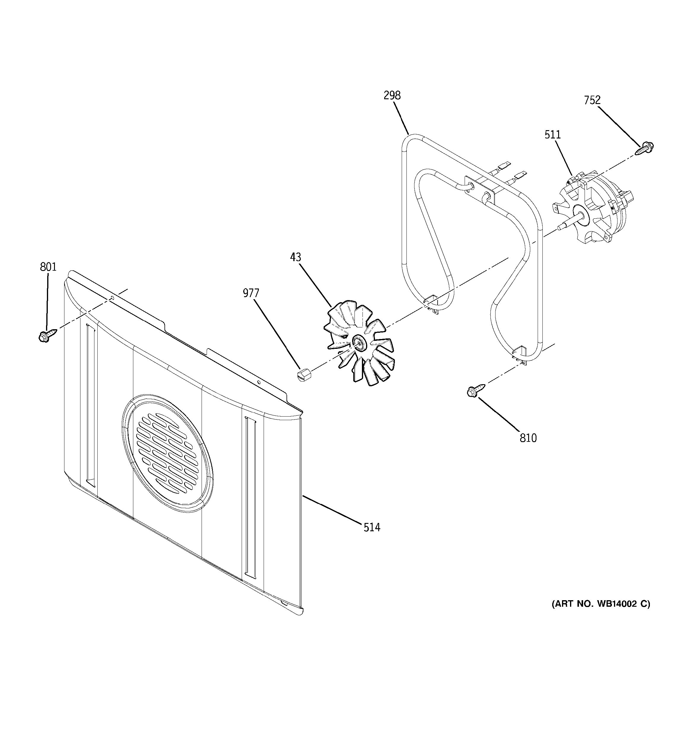 Assembly View For Convection Fan