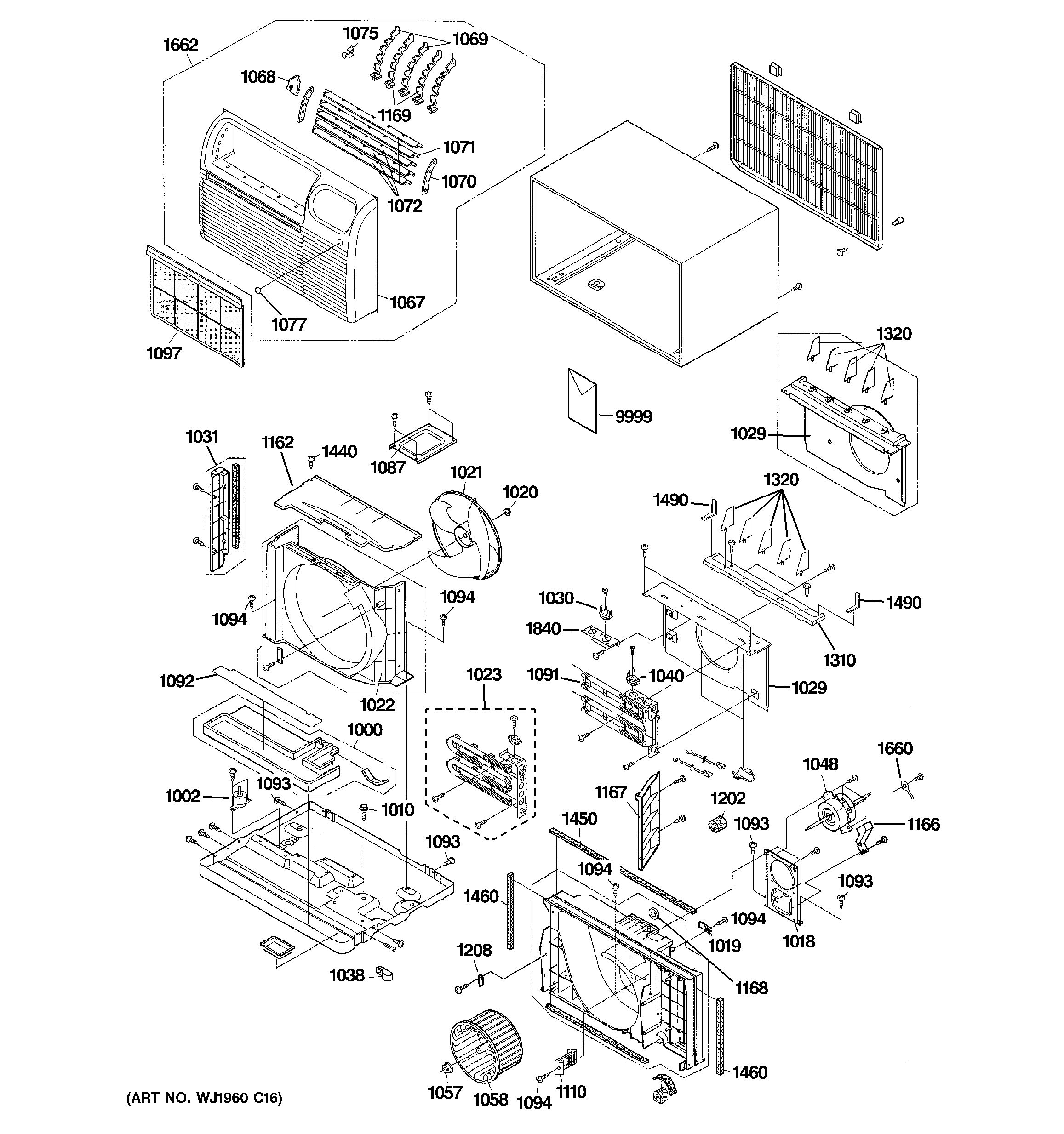 Assembly View For Cabinet Amp Components