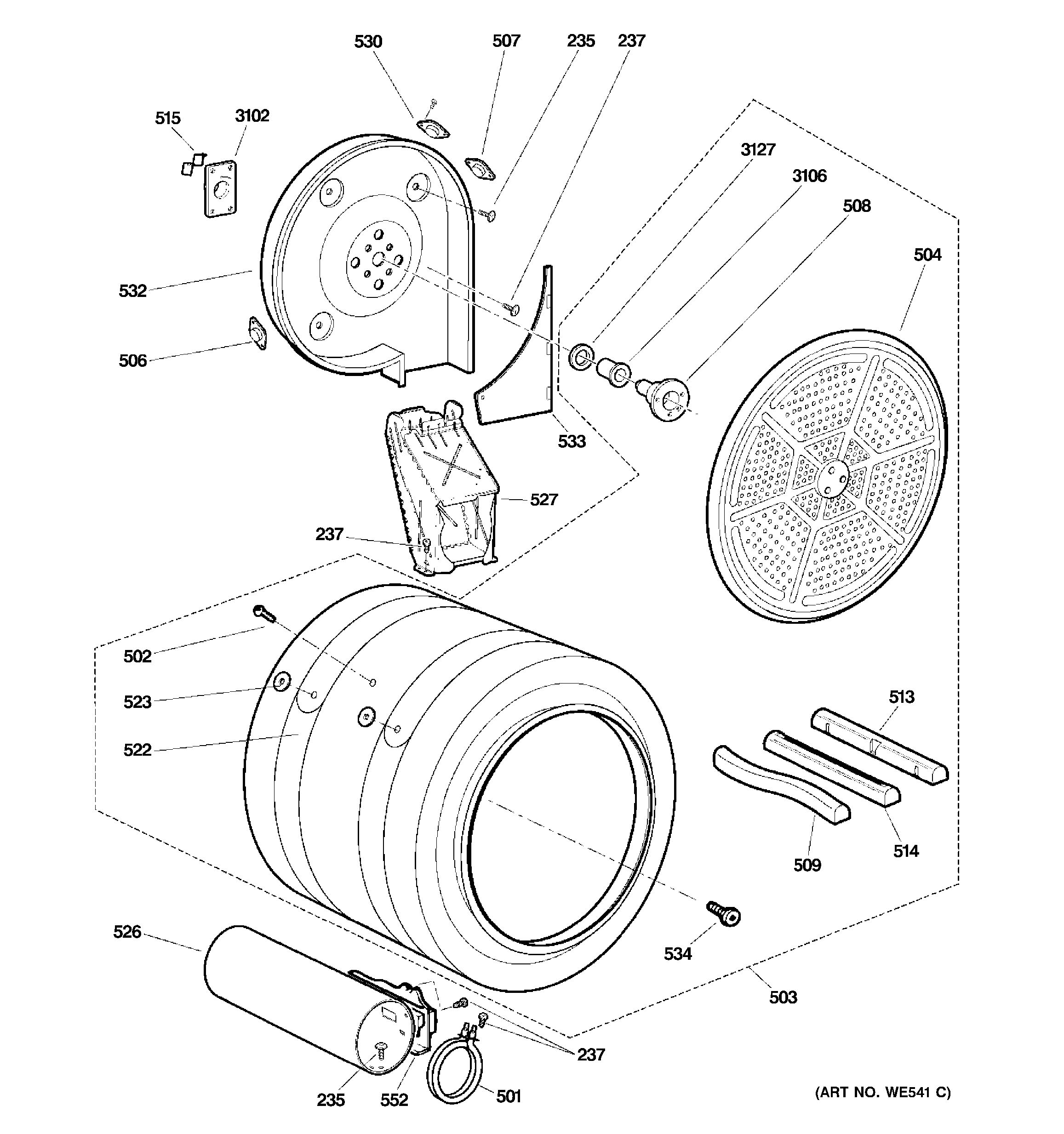 Assembly View For Drum