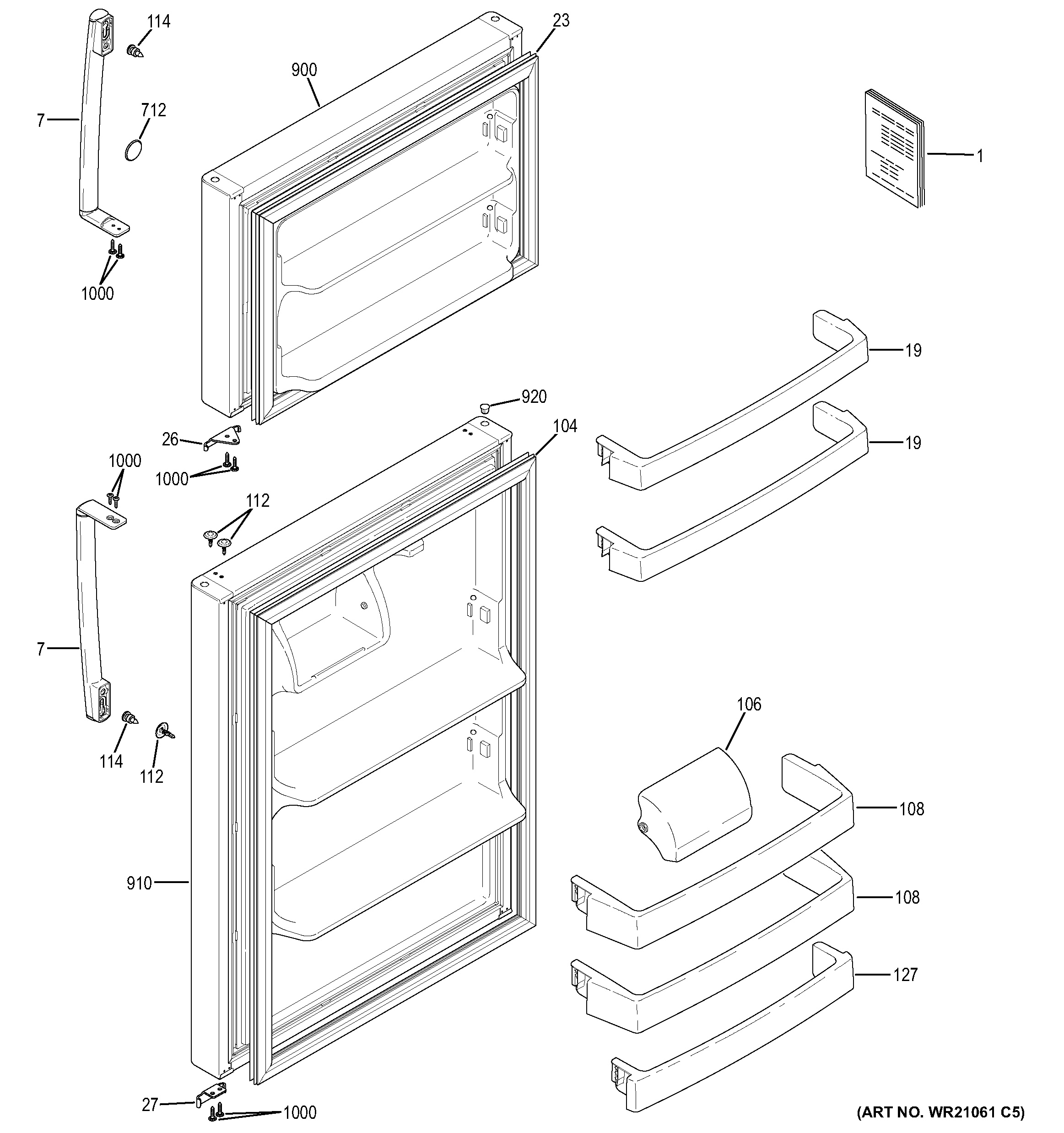 Assembly View For Doors