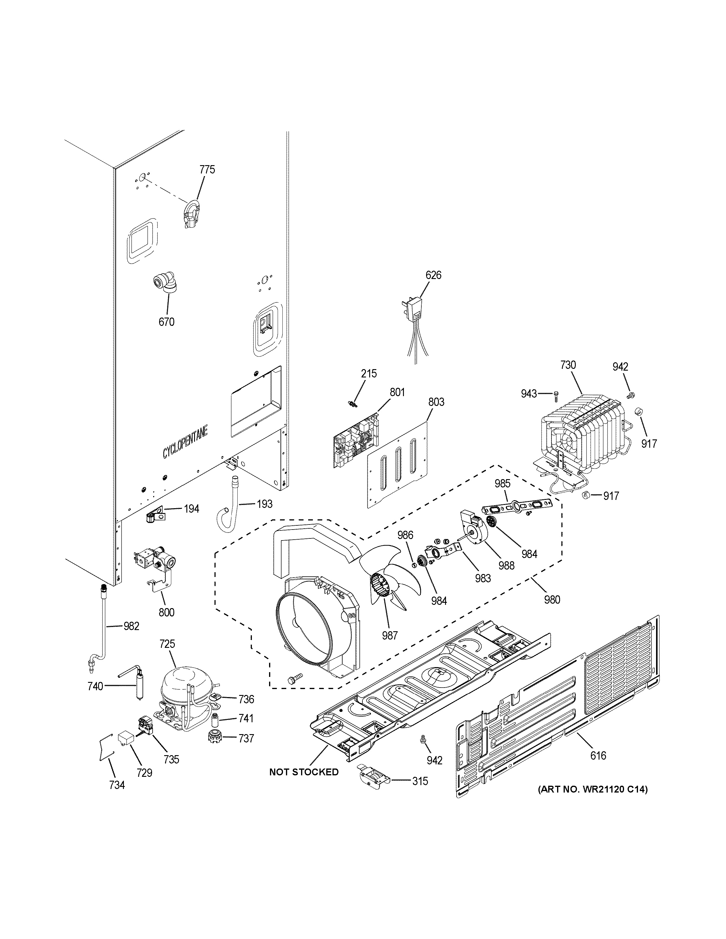 Assembly View For Machine Compartment