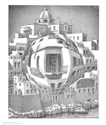 mc escher balkon poster kunstdruck