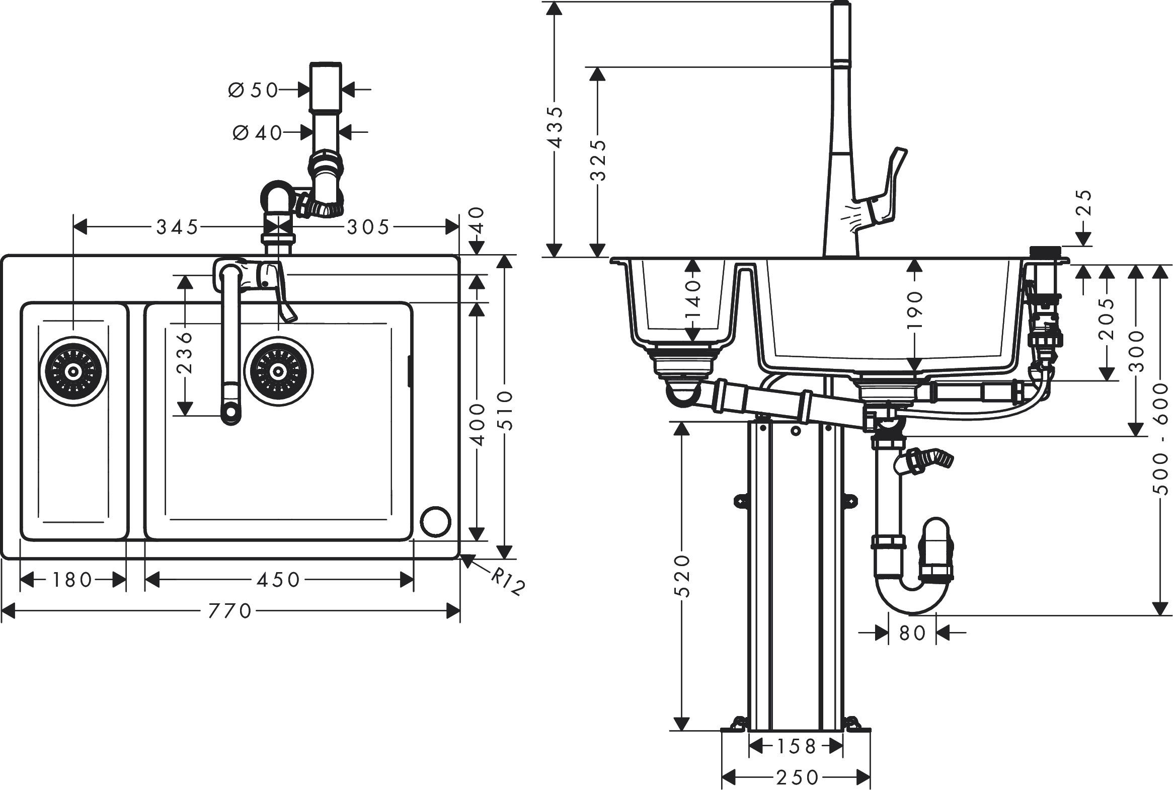 Hansgrohe Sink Combinations Bundle C51 C51 F635 04
