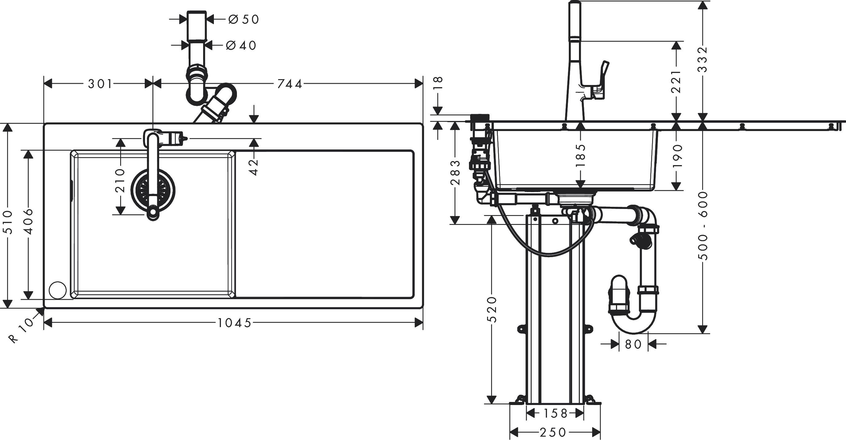 Hansgrohe Sink Combinations Bundle C71 C71 F450 11