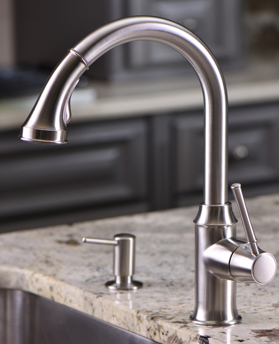hg talis c higharc single hole kitchen faucet w pull down 2 spray hansgrohe 4215800 tools home improvement kitchen fixtures